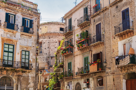 Palermo,Sicilia, Italy: Street view of the old buildings in the historic part of the town Reklamní fotografie