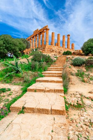 Agrigento, Sicily island, Italy: The Temple of Juno in the Valley of the Temple, Agrigento southern Italy on the island of Sicily Reklamní fotografie