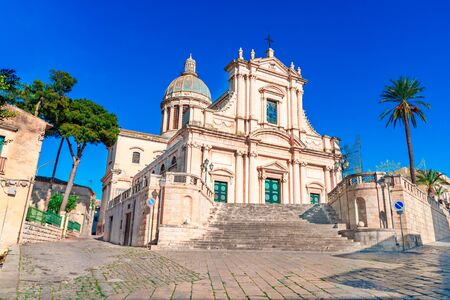 Comiso, Sicily island, Italy: The Neoclassicist Church of the Annunziata,16th century on the island of Sicily, Italy
