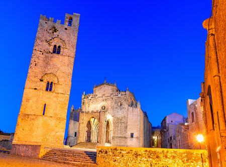 Erice, Sicily, Italy: Duomo dellAssunta or Chiesa Madre main church of the medieval city Erice, Europe