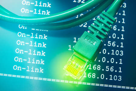 Internet connection with IP routing background