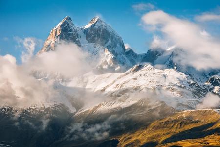 Svaneti, Peak Ushba Stockfoto