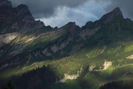 mountain slope in sunset light Foto de archivo - 101369484