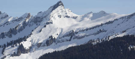 view of a mountain in winter Stock fotó