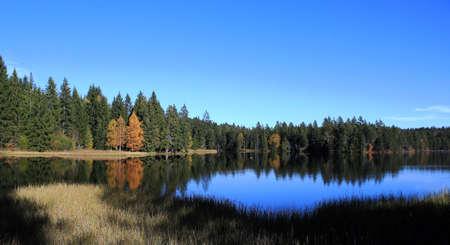 view of a small lake Banco de Imagens