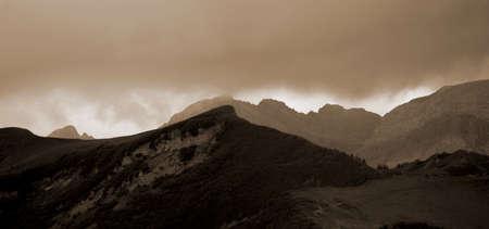 alpine landscape with mountain slopes