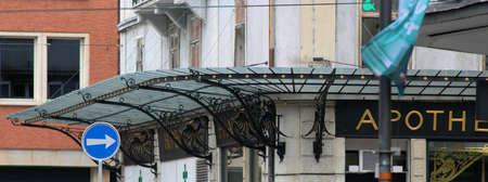 an old canopy with nice embellishments