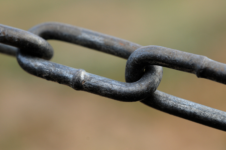 Close up of a chain link