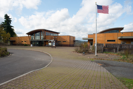 SHERWOOD, OREGON NOVEMBER 01 2016, The Visitor Center and headquarters of the Tualatin River National Wildlife Refuge