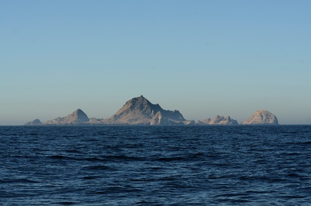 The Southeast Farallon islands 30 miles west of San Francisco. A Federal Wildlife Refuge home to a large bird population, seals, and sea lions. Stock Photo - 80890167