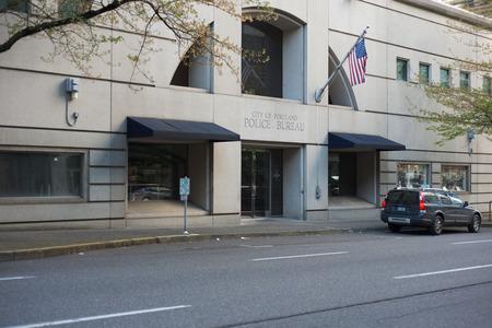 PORTLAND, OREGON MAY 05 2017, The  Portland Police Bureau Headquarters in the Multomah County Justice Center building.