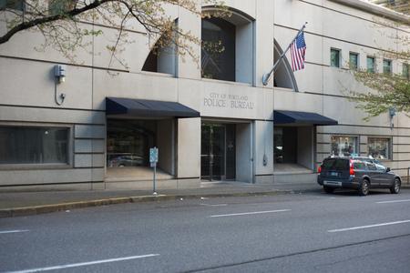 PORTLAND, OREGON MAY 05 2017, The  Portland Police Bureau Headquarters in the Multomah County Justice Center building. Stock Photo - 82786933