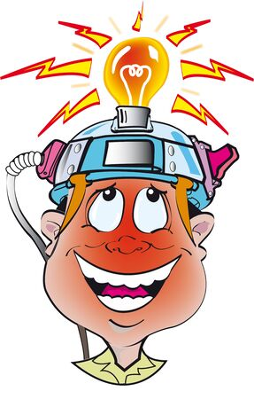 occurred: happy face cartoon for a great idea that you and your light occurred the bulb