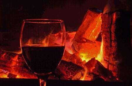 glut: Rotwein und Glut Lizenzfreie Bilder