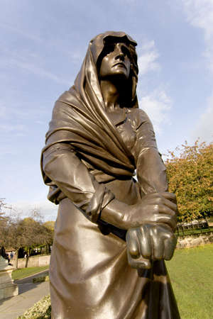 macbeth: statue of shakespearean character the gower memorial stratford upon avon warwickshire england uk lady macbeth