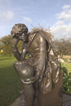 shakespearean: statue of shakespearean character the gower memorial stratford upon avon warwickshire england uk hamlet