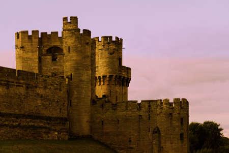 Castle turret sunset wall fairy tale myth history photo