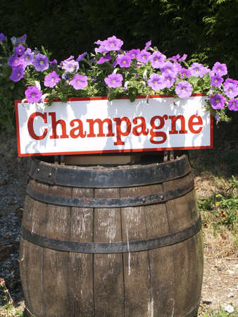 champers: champagne barrel