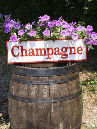 vintages: champagne barrel