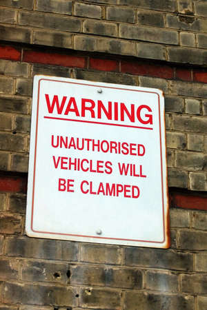 resulted: clamping sign