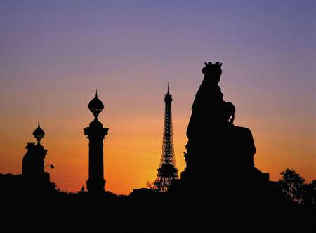 la: france. paris. place de la concorde Stock Photo