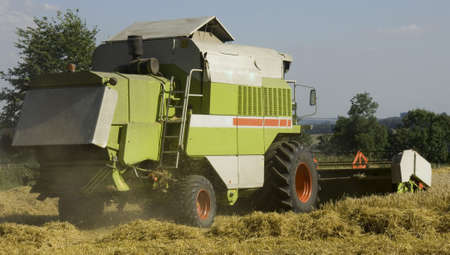 are combined: combined harvester Stock Photo