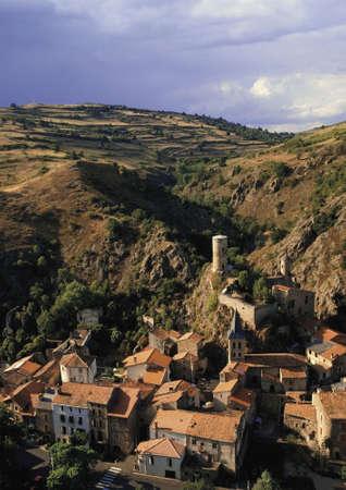 france auvergne massif central village of st floret Stock Photo