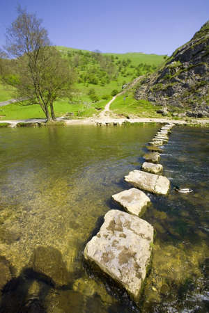 derbyshire: england derbyshire peak district national park valley of the river dove dovedale Stock Photo