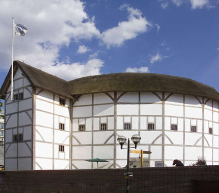 theaters: the rebuilt globe theatre london england famous for plays by william shakespeare Stock Photo