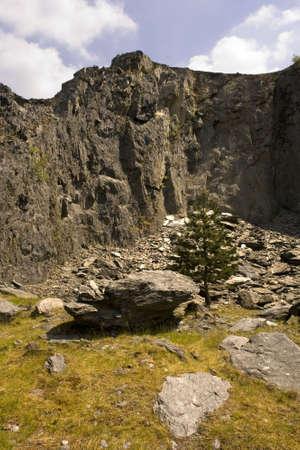 eyesore: quarry rock wales heavy industry constructon uk