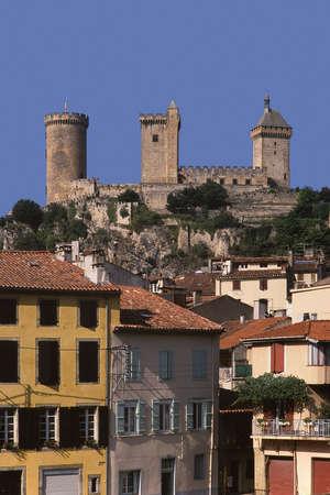 midi: france midi pyrenees ariege foix chateau