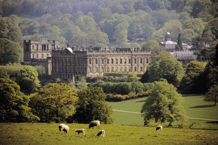 england derbyshire peak district national park chatsworth house photo