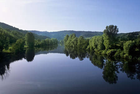 holidaymaker: the river lot midi pyrenees france europe