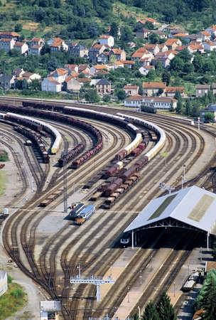 midi: railway junction capdenac gare aveyron midi pyrenees france