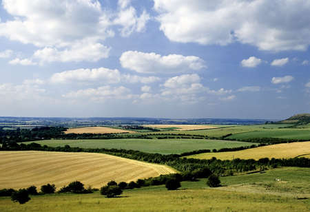 holidaymaker: rolling english countryside the chilterns buckinghamshire home counties england uk Stock Photo