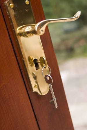 key in door door security Stock Photo - 652650