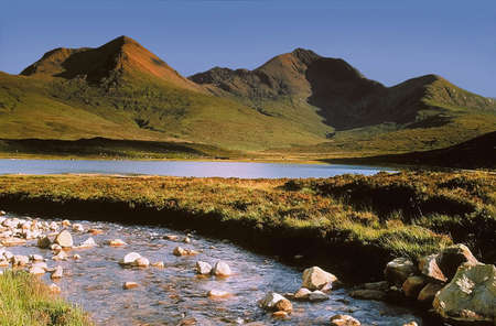 lochs: scotland. isle of skye. loch ainort. Stock Photo