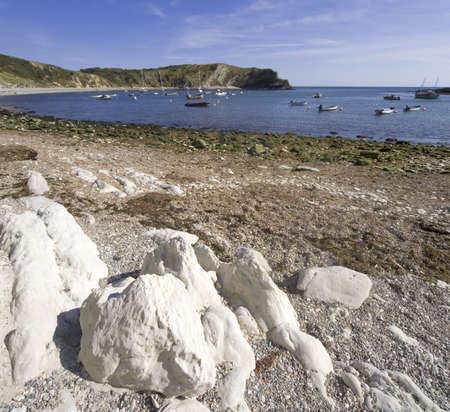dorset: lulworth cove dorset coast england Stock Photo