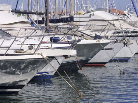boats marina port harbour south of france photo