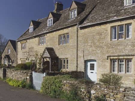 cotswold: cottages Stock Photo