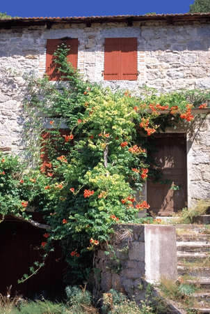 picturesque: old picturesque french house
