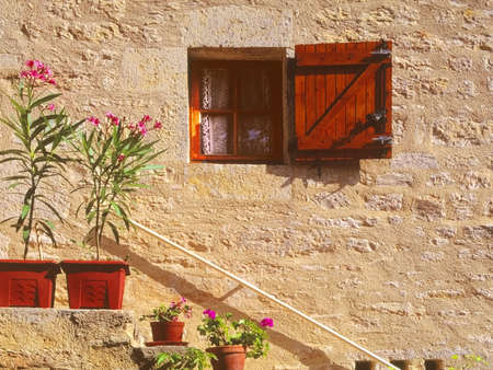 old picturesque french house photo