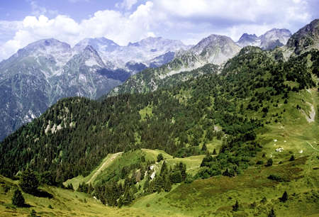station ski: mountains the alps view from chamrousse ski station grenoble france europe Stock Photo