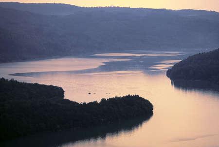jura: lac du vouglans jura franche compte france europe