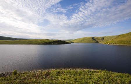 elan: reservoir lake the elan valley mid wales uk Stock Photo