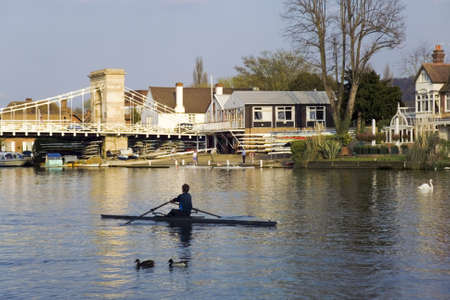 thames: river thames marlow rower Stock Photo