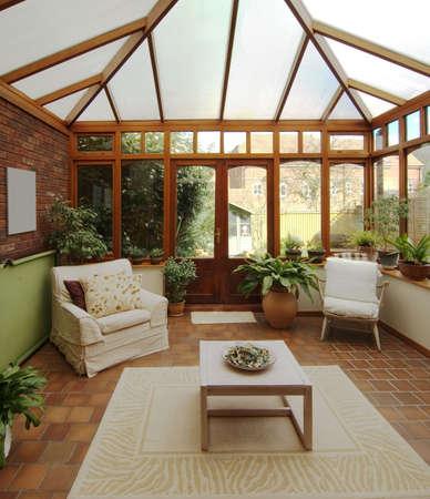 conservatorium in huis huizen eigendom onroerend goed Stockfoto