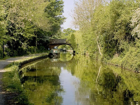 ramble: the stratford-upon-avon canal lapworth flight of locks kingswood junction warwickshire the midlands england uk Stock Photo