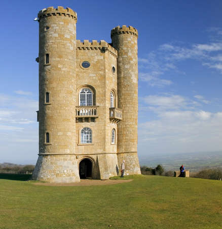 turrets: broadway tower the cotswolds worcestershire england midlands uk Stock Photo