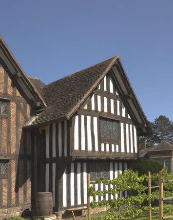 half  timbered: half timbered buildings selly hall bourneville birmingham midlands england uk Stock Photo